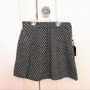 Black & white skirt, NWT